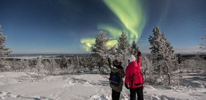 FEBRUARY NORTHERN LIGHTS AND SKIING HOLIDAY IN SAARISELKA LAPLAND 2019