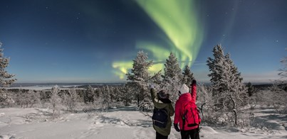 FEBRUARY NORTHERN LIGHTS AND SKIING HOLIDAY IN SAARISELKA LAPLAND 2021